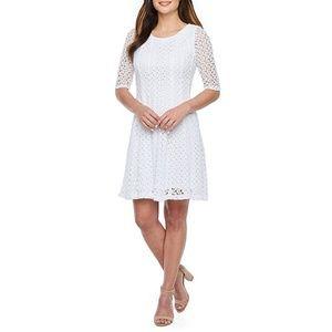 Rabbit Rabbit Rabbit Design Lace Dress NWT